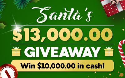 Santa's $13,000 Guaranteed Big Bingo Event