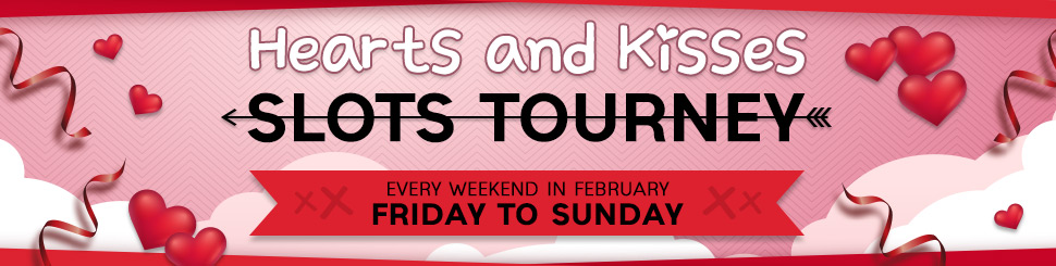 Hearts and Kisses Slots Tourney